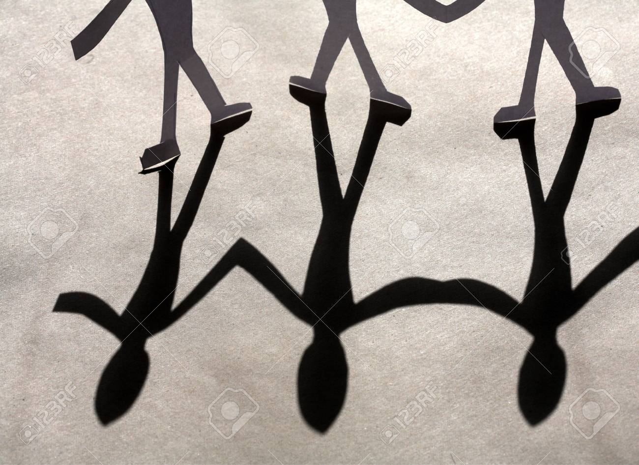 small rudimentary figures of man in paper Stock Photo - 9409298