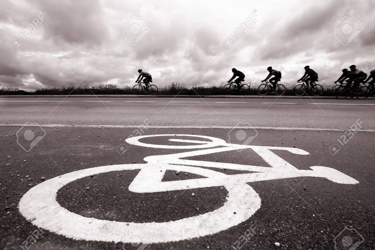 Bike race in Denmark Banque d'images - 9945274