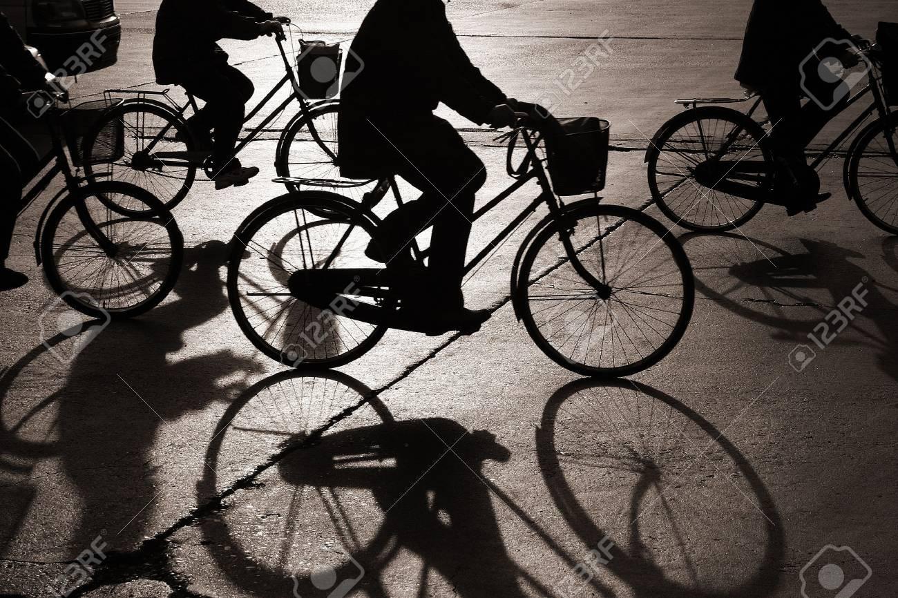 Faire du vélo dans une rue de la Chine bejing Banque d'images - 11752435