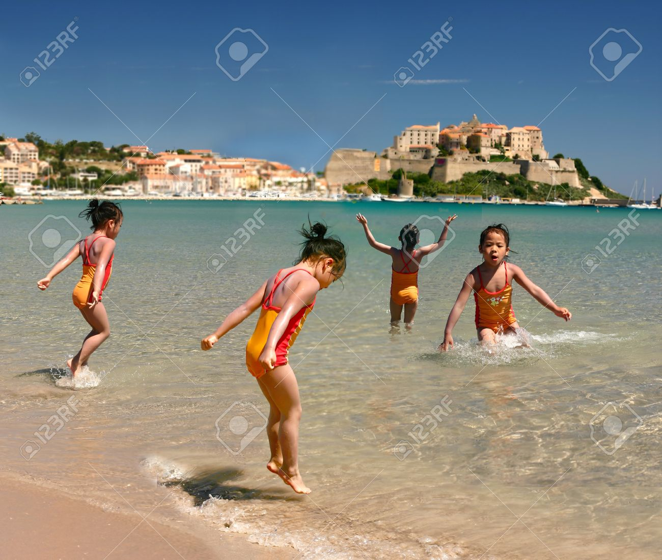 beach with people. people at the beach in corsica france stock photo 12616885 with
