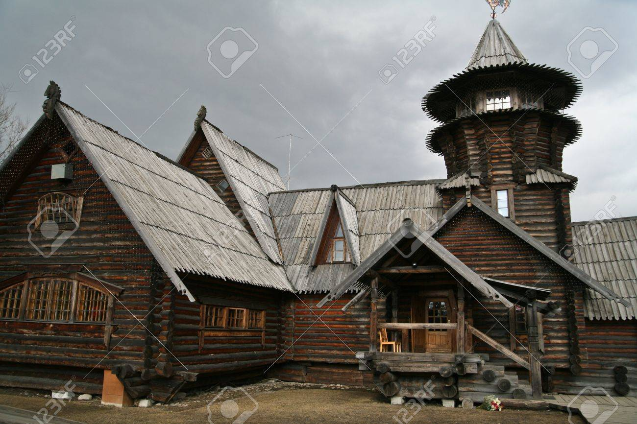 dacha a russian seasonal or year round second home stock photo