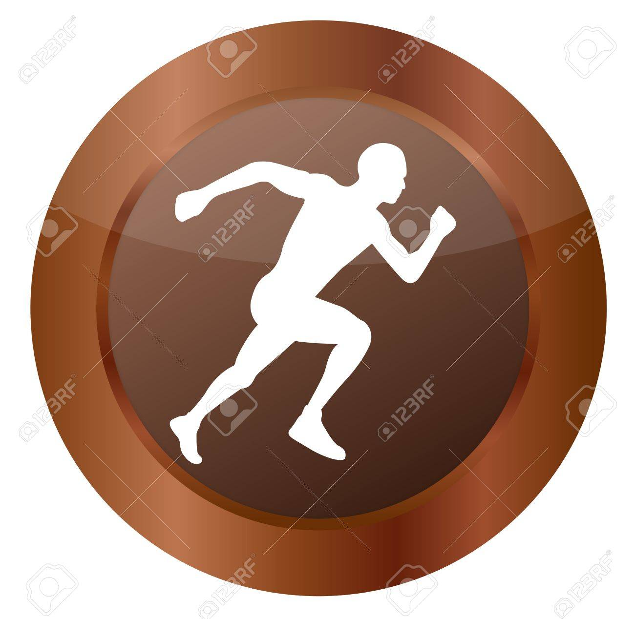Button Run Stock Vector - 17276475