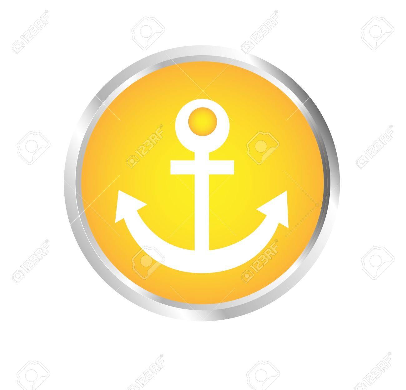 Button Anchor Stock Vector - 17700195