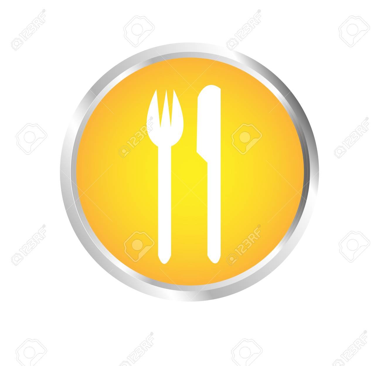 Button Cutlery Stock Vector - 17700187
