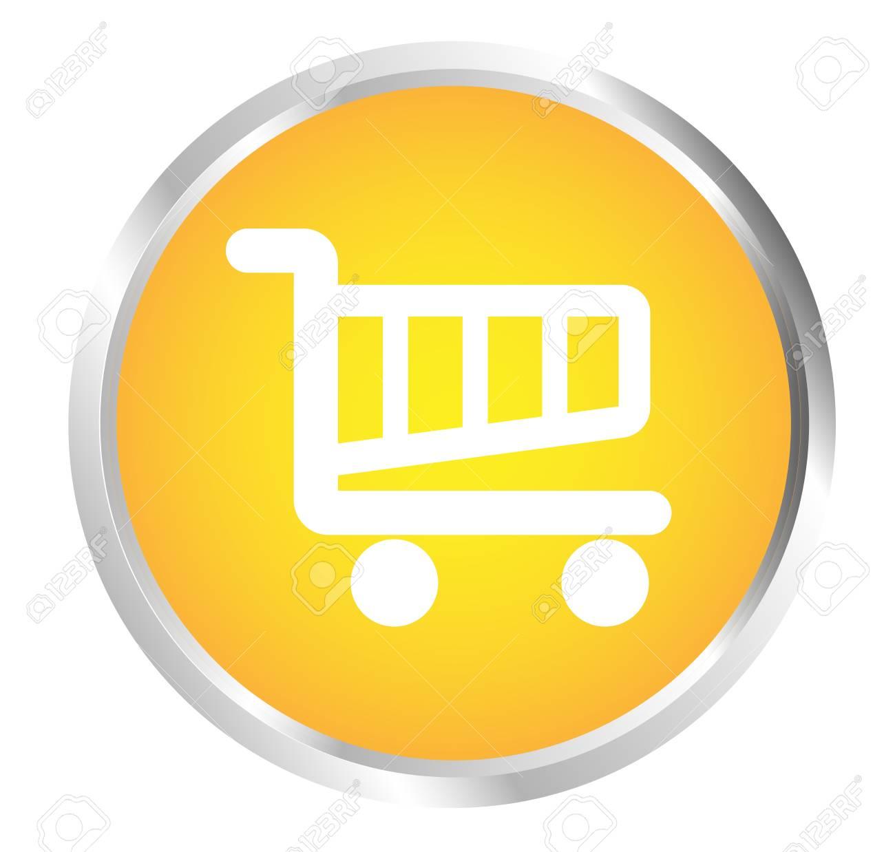 Button Cart Stock Vector - 17700201