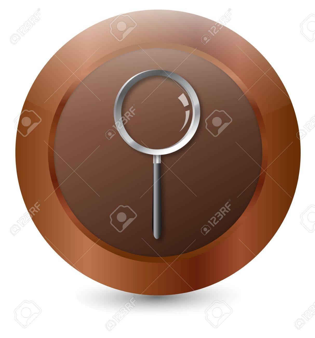 Button Magnifier Stock Vector - 18146336
