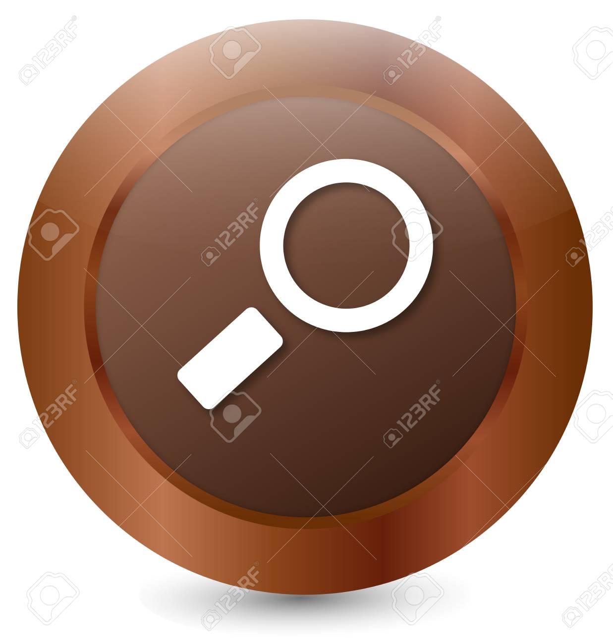 Button Loupe Stock Vector - 18203063