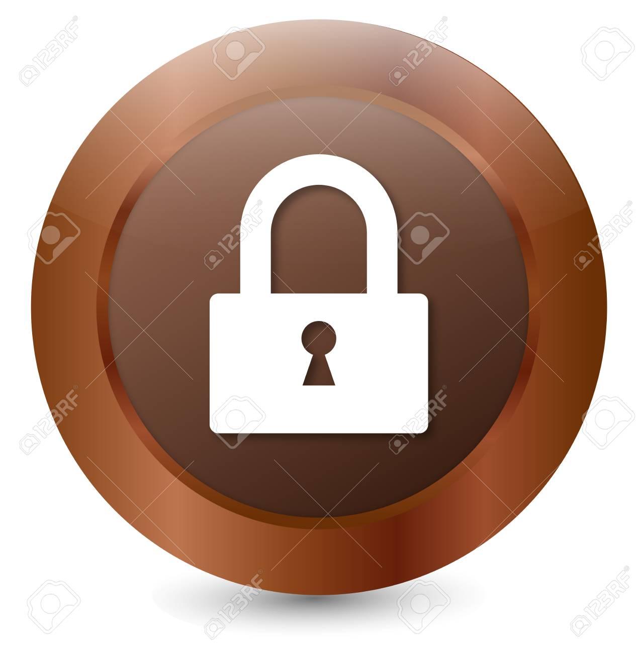 Button Lock Stock Vector - 18203050