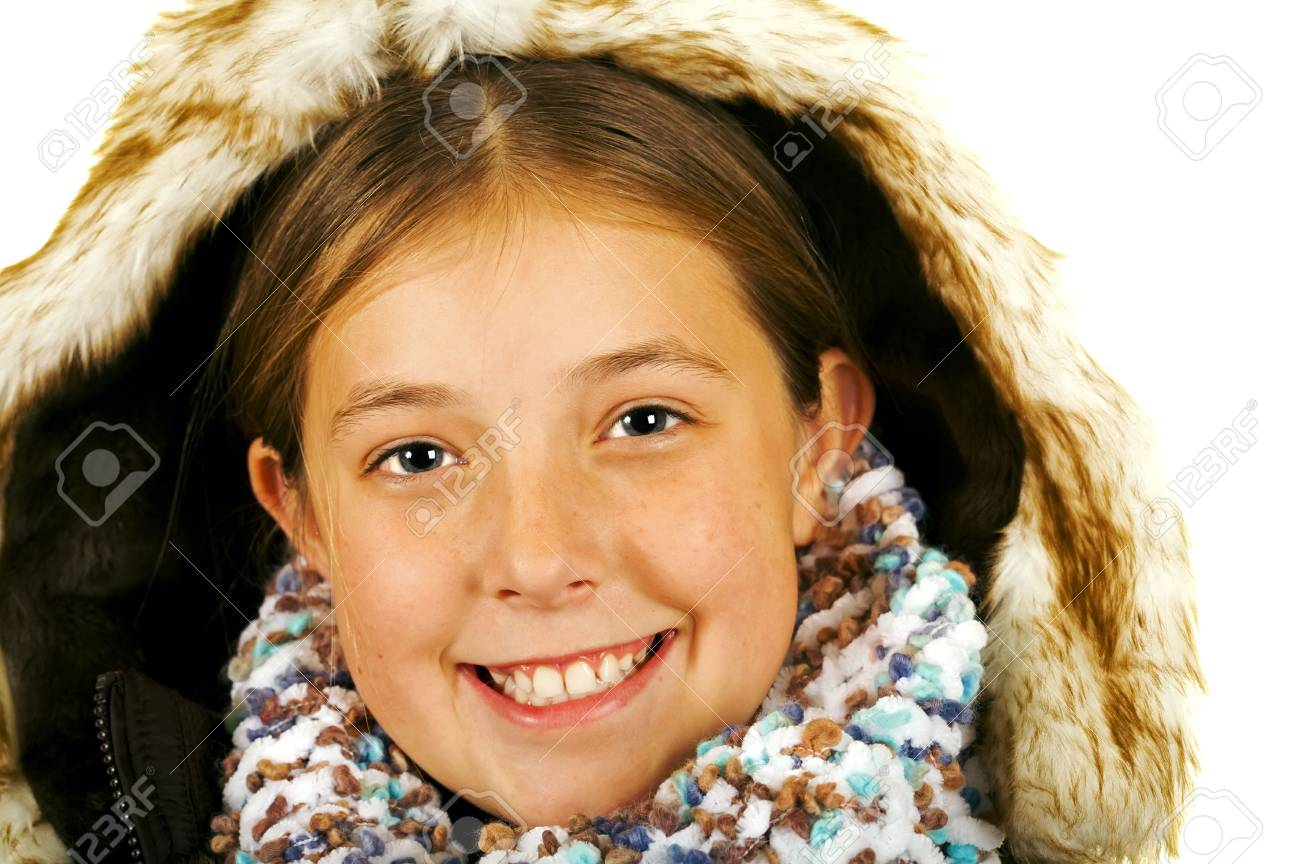 young happy brunette girl Stock Photo - 3866558