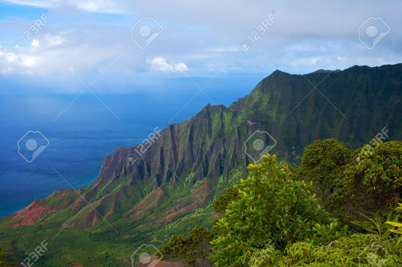 Vibrant Hawaiian Landscape Stock Photo Picture And Royalty Free
