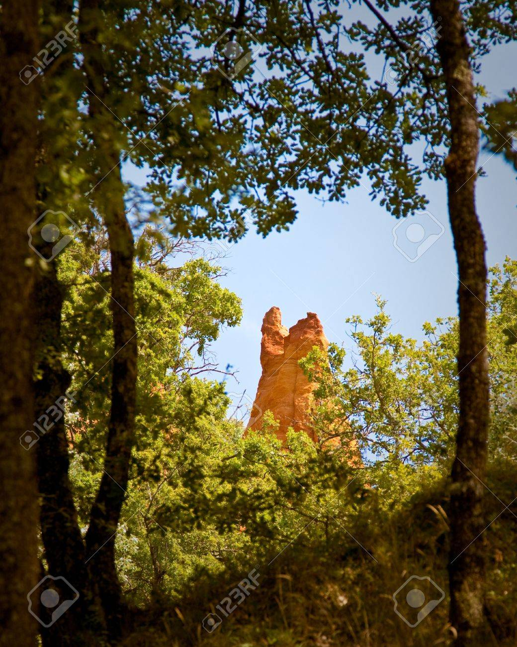 Ocres Du Roussillon A K A Le Petit Colorado Banque D Images Et Photos Libres De Droits Image 7658758