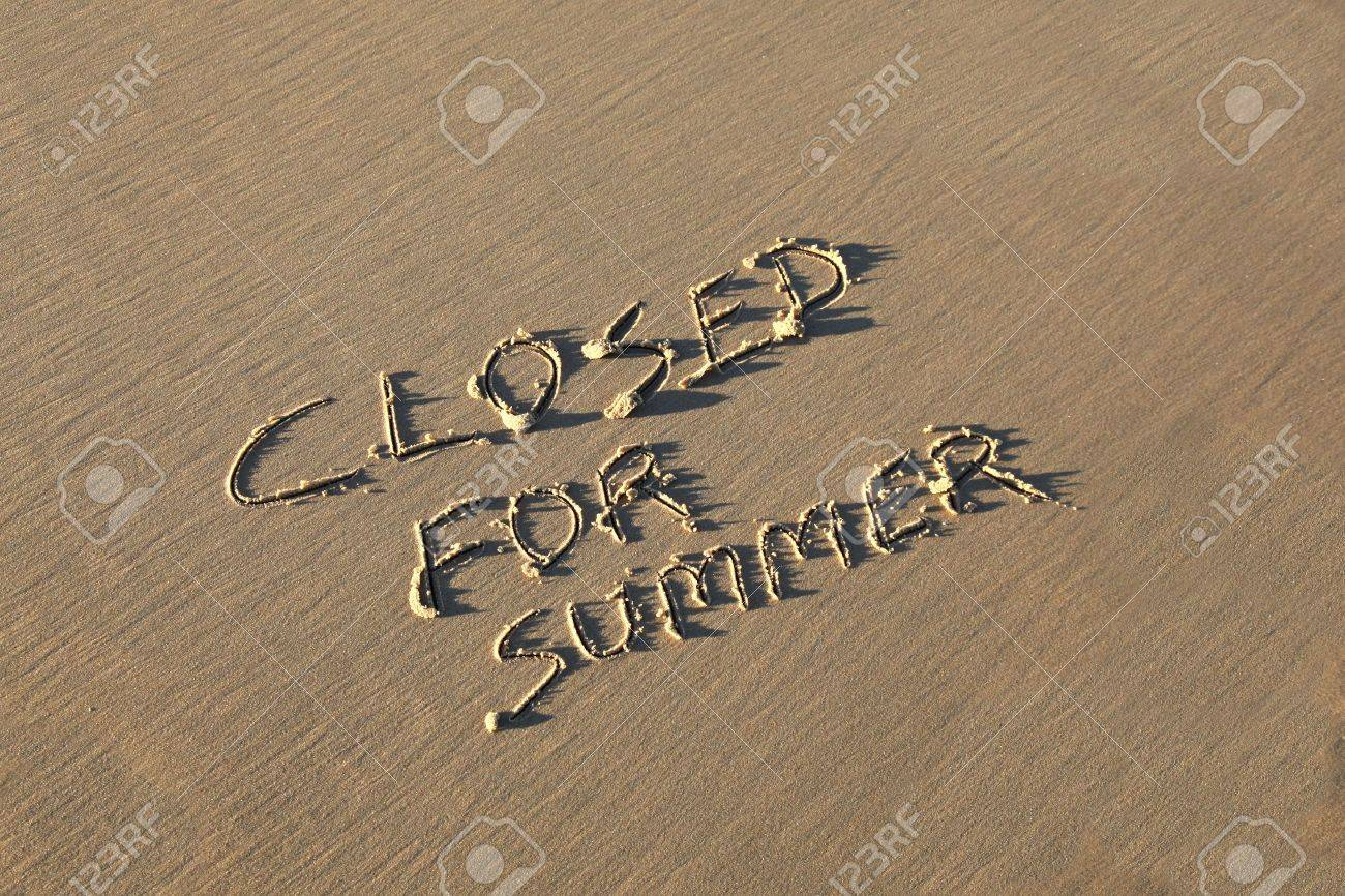 A Summer holiday concept - Closed for Summer. Stock Photo - 9676404