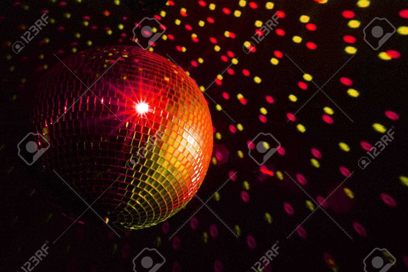 Disco ball red - yellow Stock Photo - 5032256