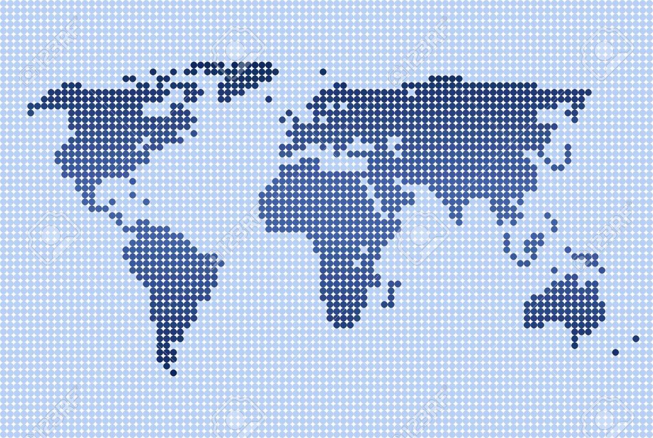 ドットの世界地図 写真素材 , 5122083