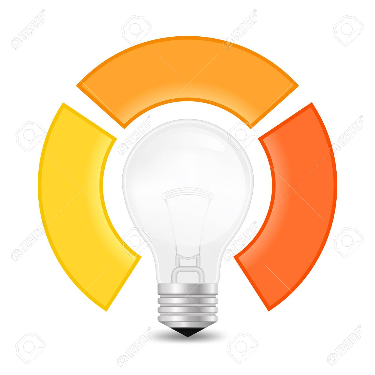 Vector Light Bulb Infographic Template For Lamp Diagram, Graph ...