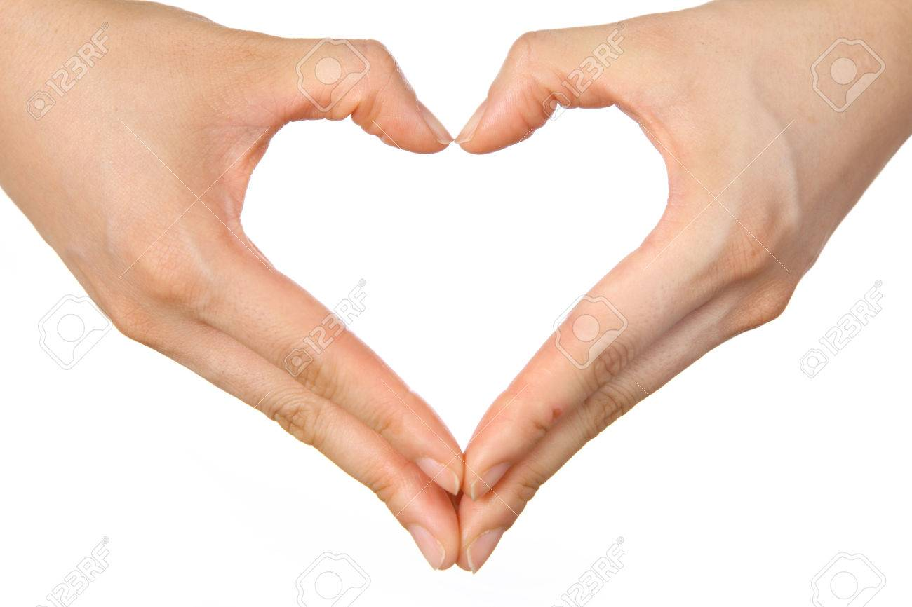 Heart Shaped Hands Sign Stock Photo, Picture And Royalty Free ...