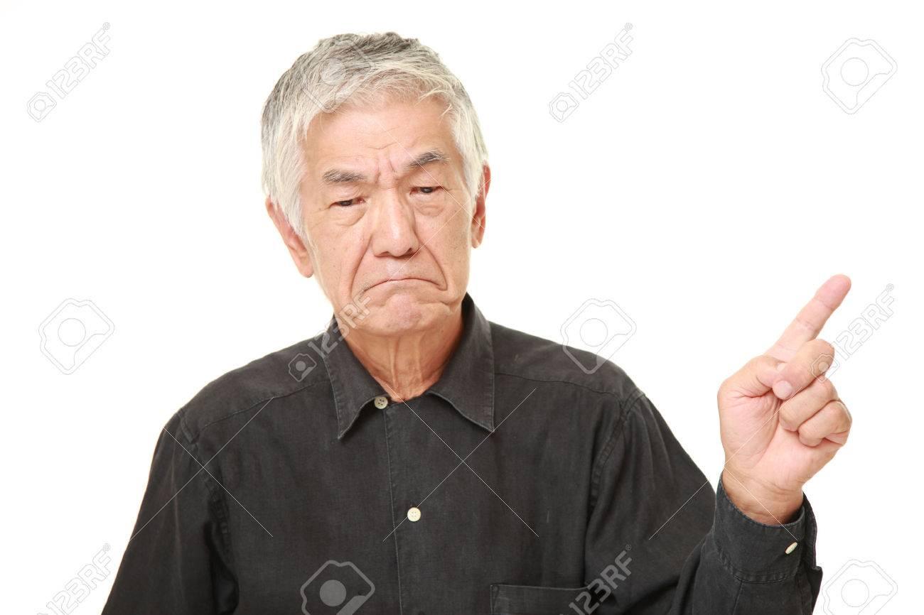senior Japanese man doubting - 51960002