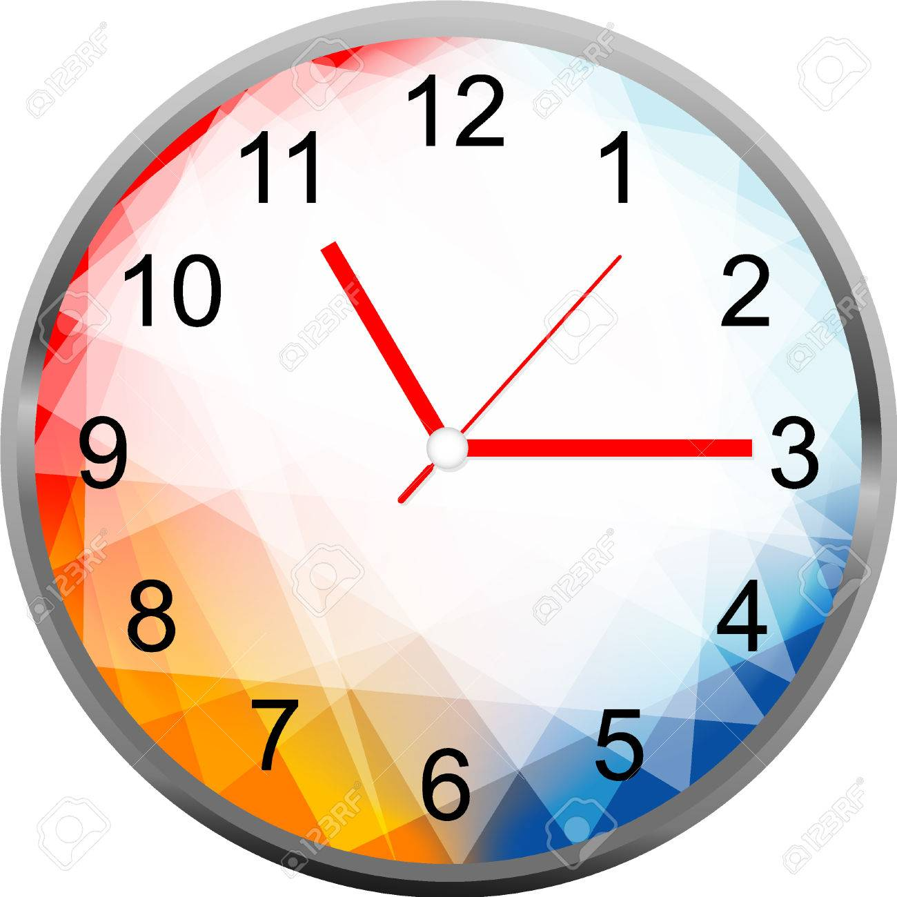 creative clock face geometry design royalty free cliparts vectors