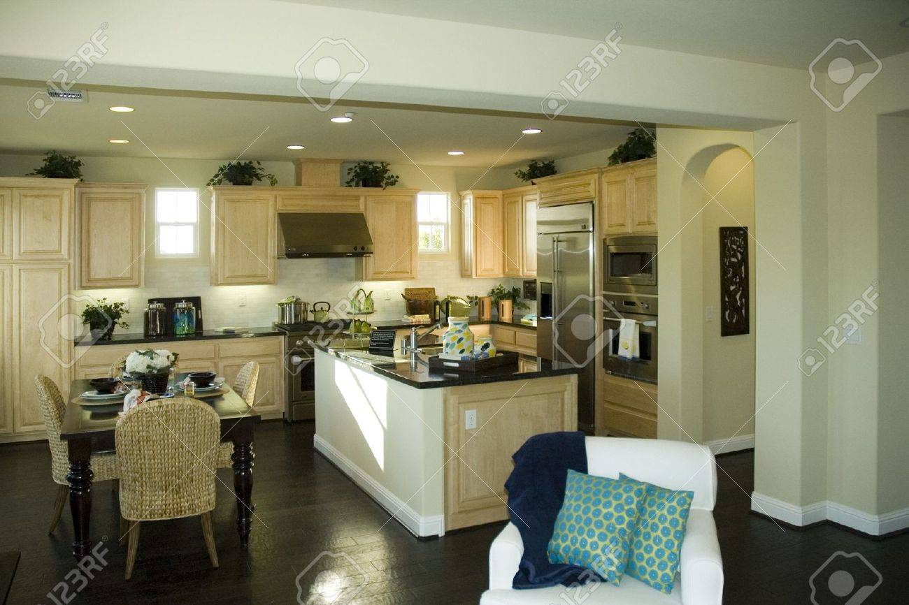 country style kitchen in northern california stock photo, picture