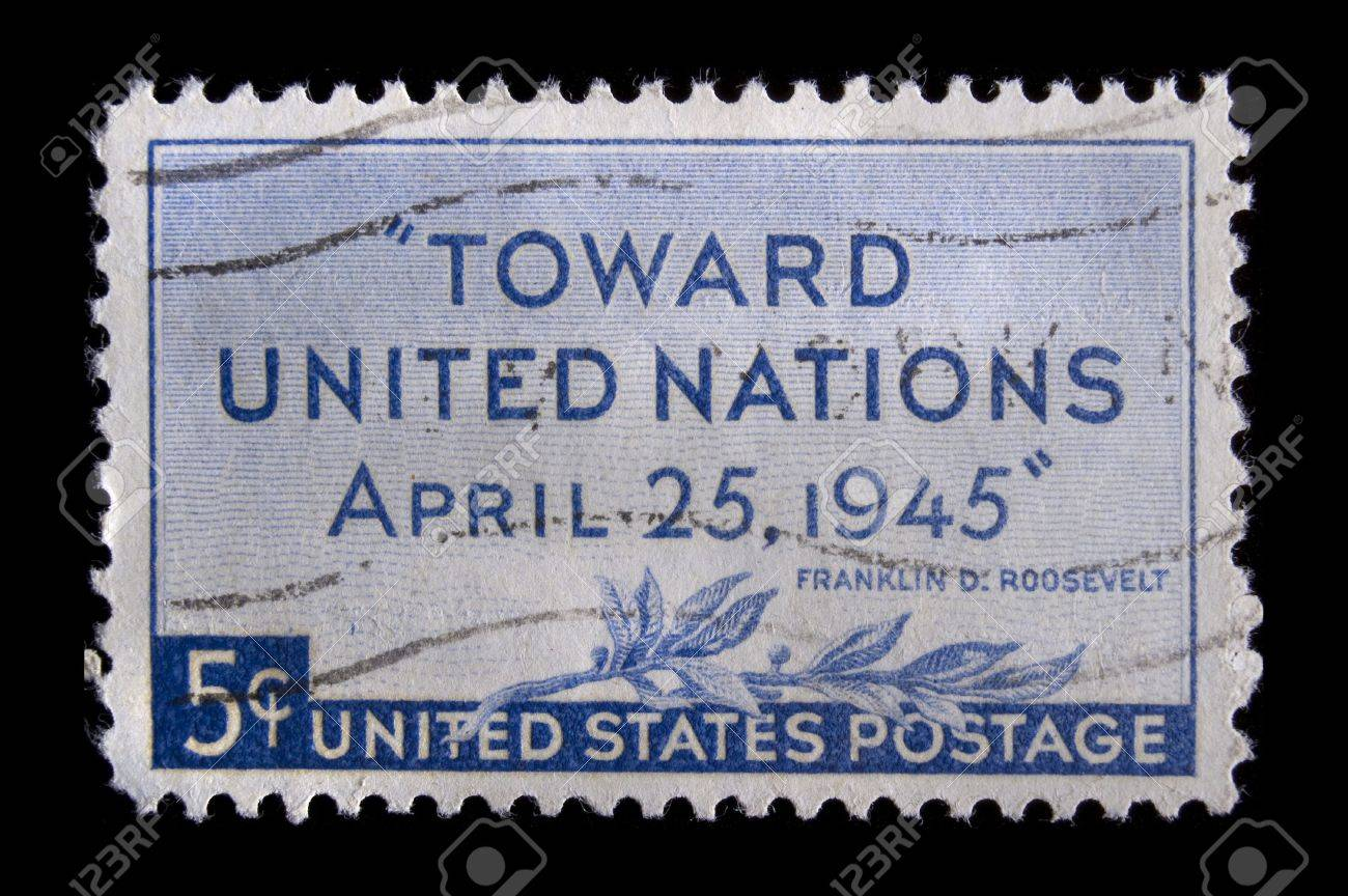 UNITED STATES CIRCA 1945 Depicting Words Of FDR With Inscription