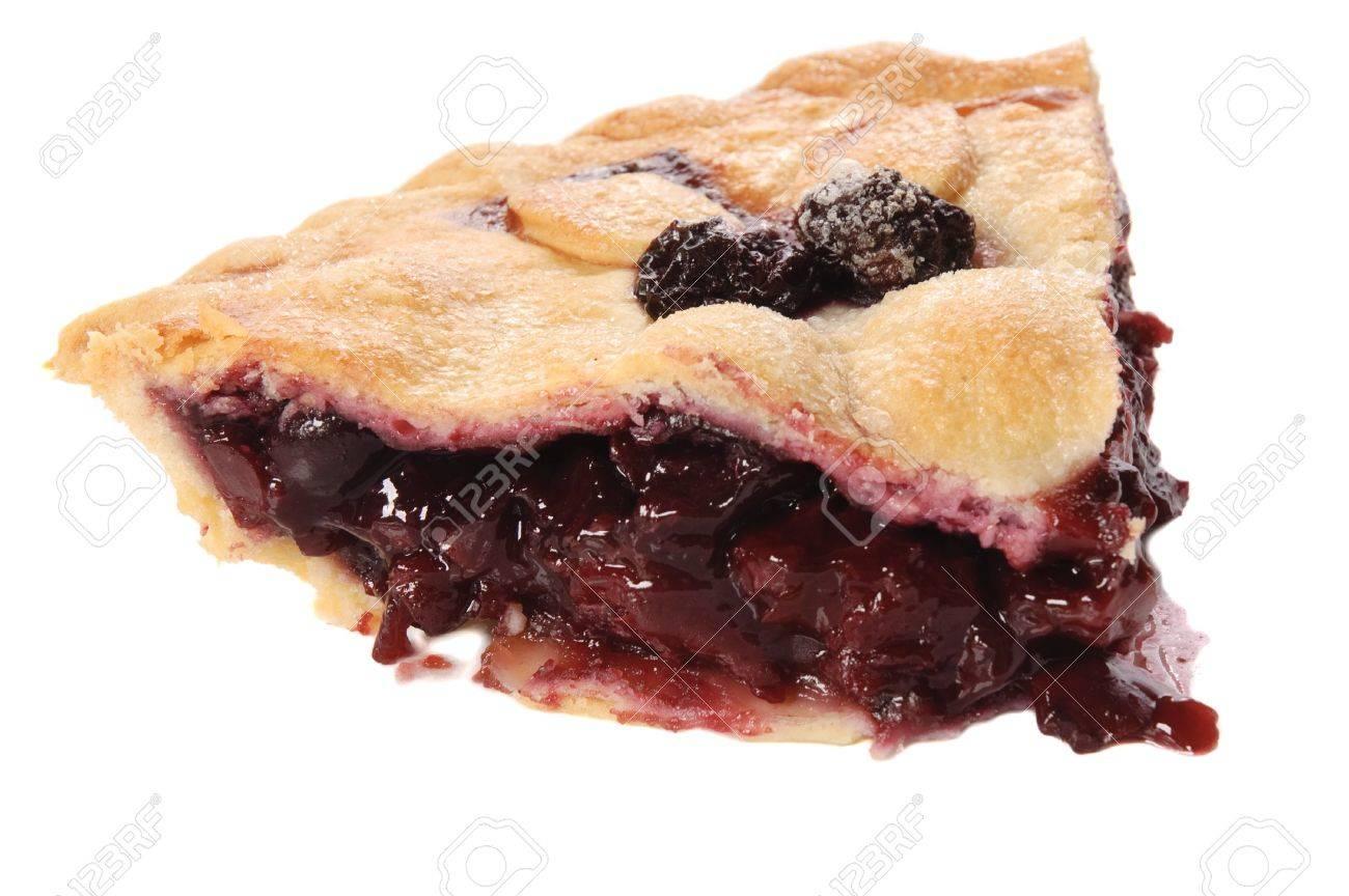 Cherry pie on a white background Stock Photo - 7870961