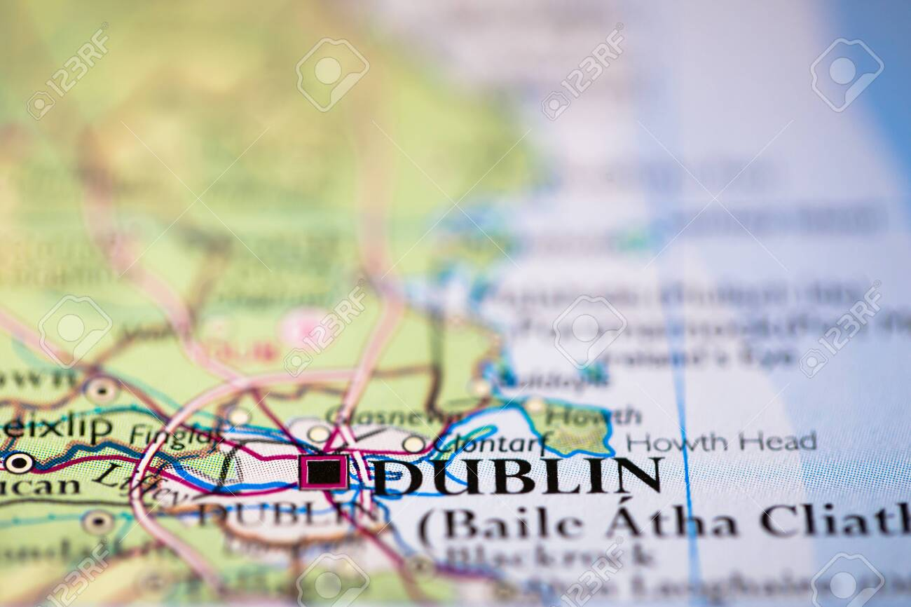 Picture of: Geographical Map Location Of Deblin City In Ireland United Kingdom Stock Photo Picture And Royalty Free Image Image 146572159