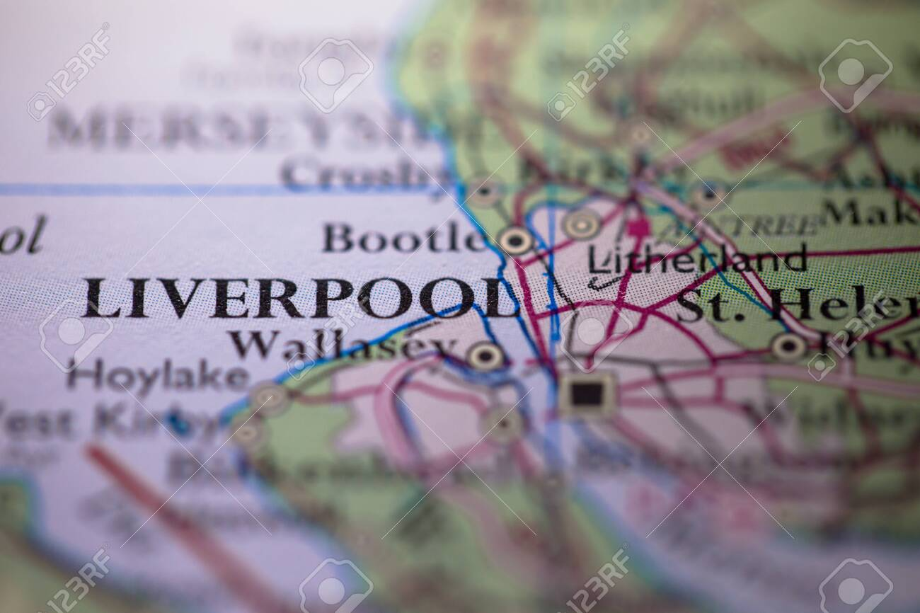 Picture of: Geographical Map Location Of Liverpool City In England United Stock Photo Picture And Royalty Free Image Image 146572318
