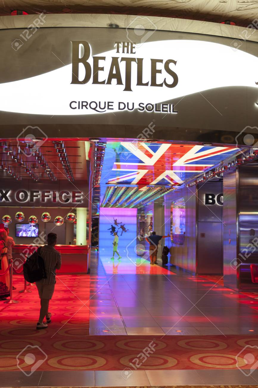 LAS VEGAS - AUGUST 11, 2013 - Beatles at The Mirage on August 11, 2013  in Las Vegas  The Love theater, which replaced the Siegfried   Roy theater at The Mirage, is said to have cost more than  100 million  Stock Photo - 21840431