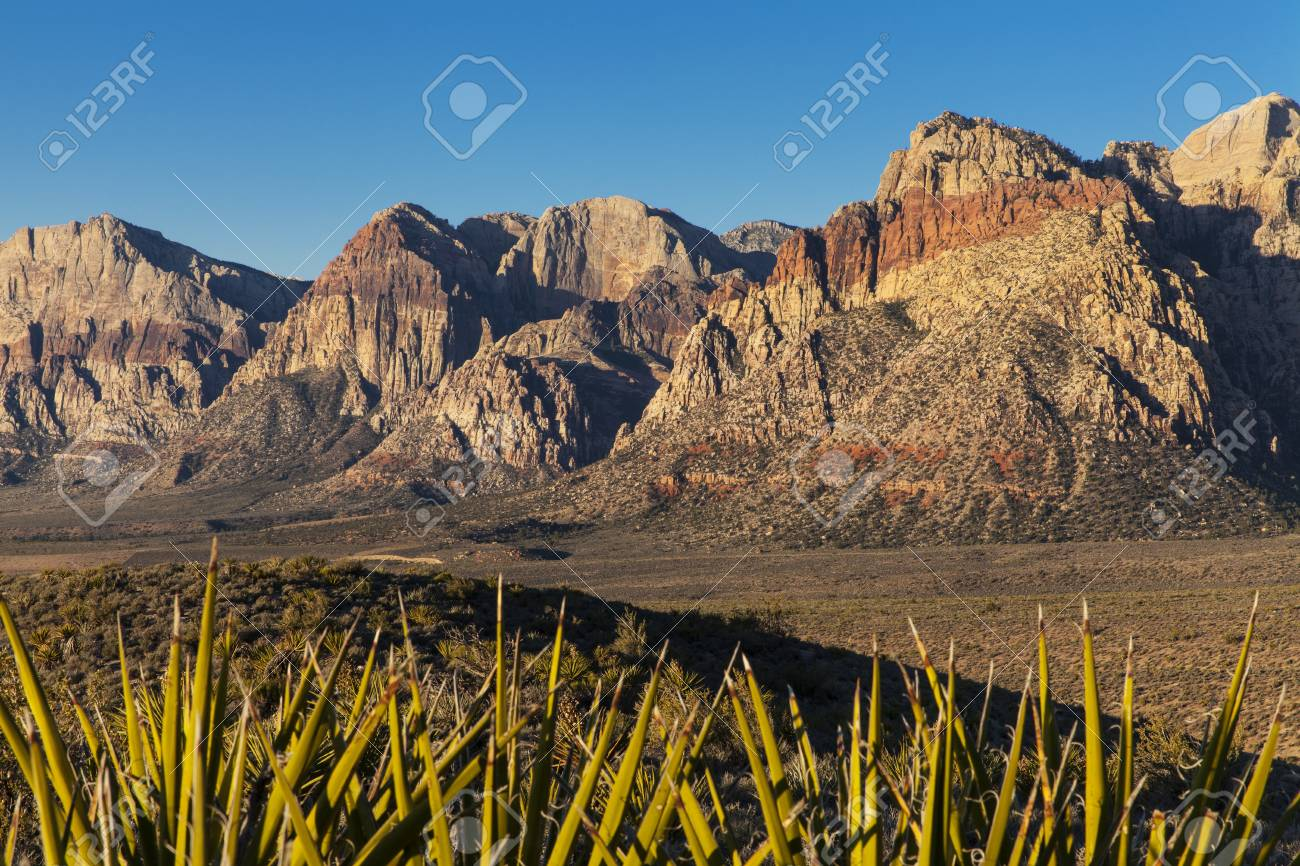 Sunrise on a desert Landscape Stock Photo - 21942049