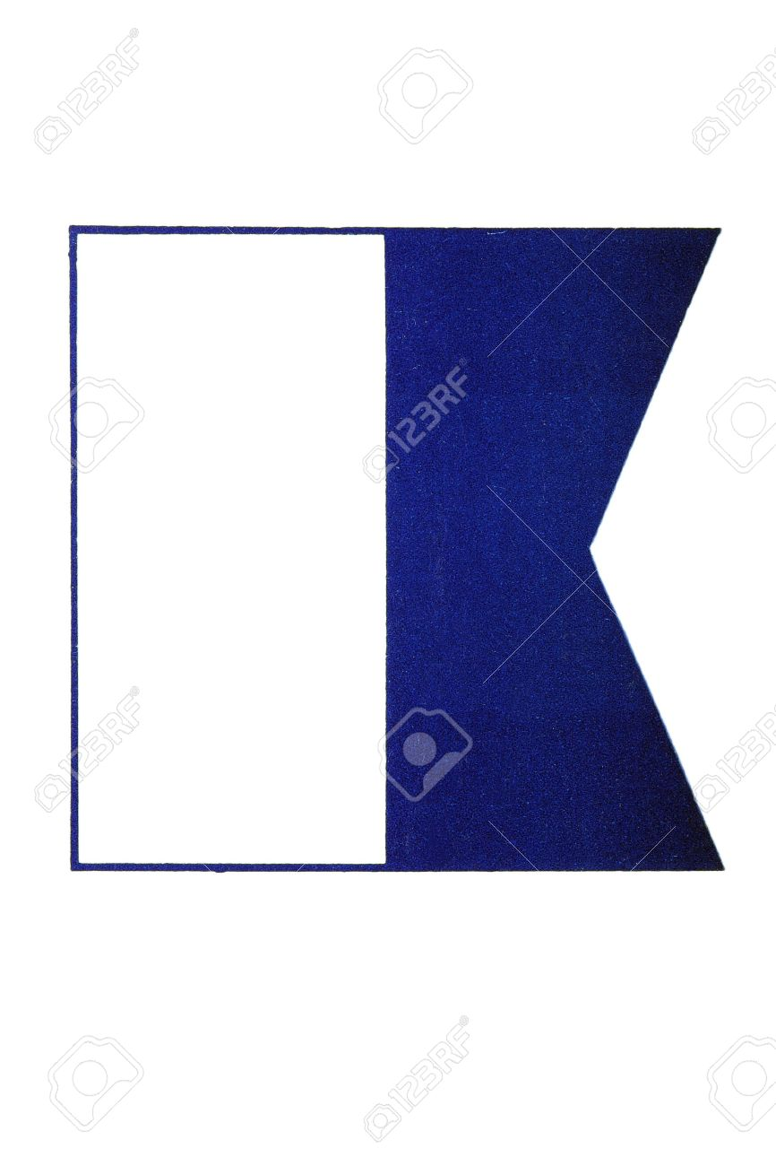Image Of Alpha Flag International Symbol For Divers Down Stock Photo