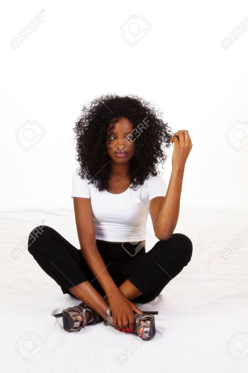 Young Black Teen Cheerleader