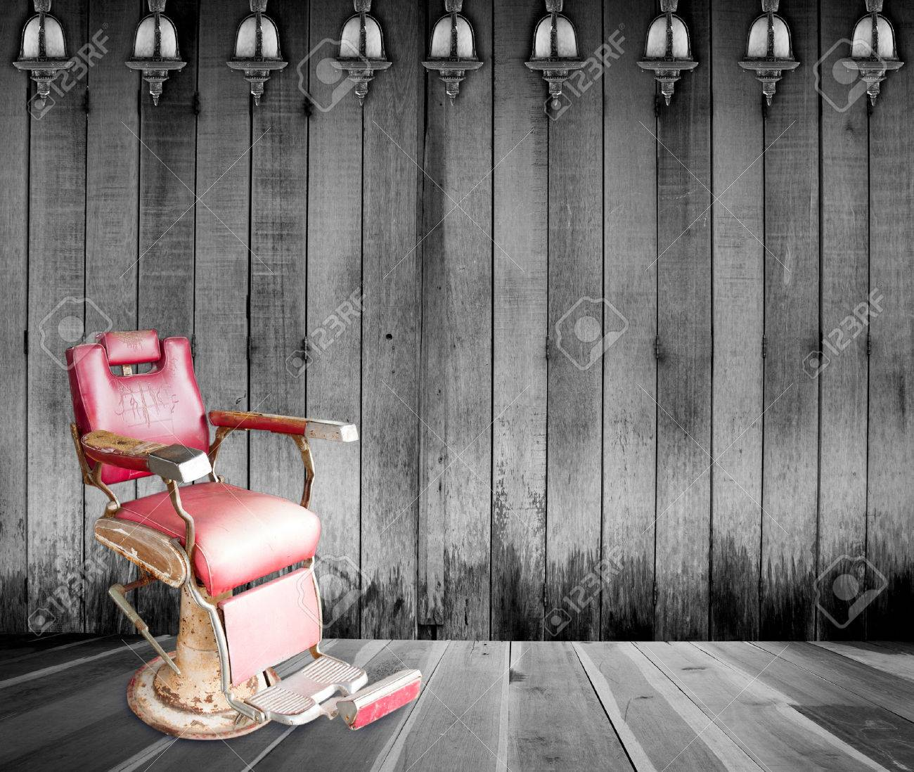 Empty room with chair violin and sheet music on floor photograph - Broken Chair Antique Barber Chair In Room