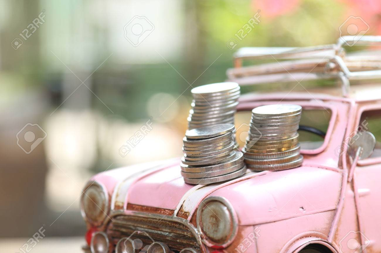 Car And Money, Concept Of Car Loan Stock Photo, Picture And Royalty ...