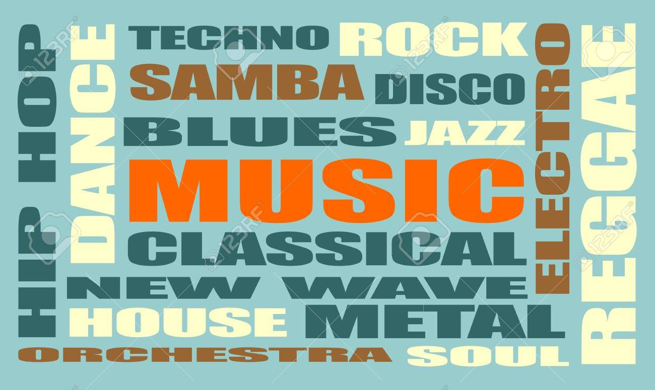 main music genres clouds list