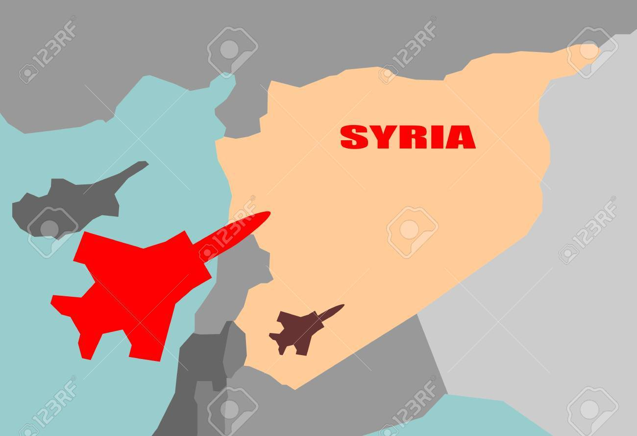 Nahost Karte.Stock Photo