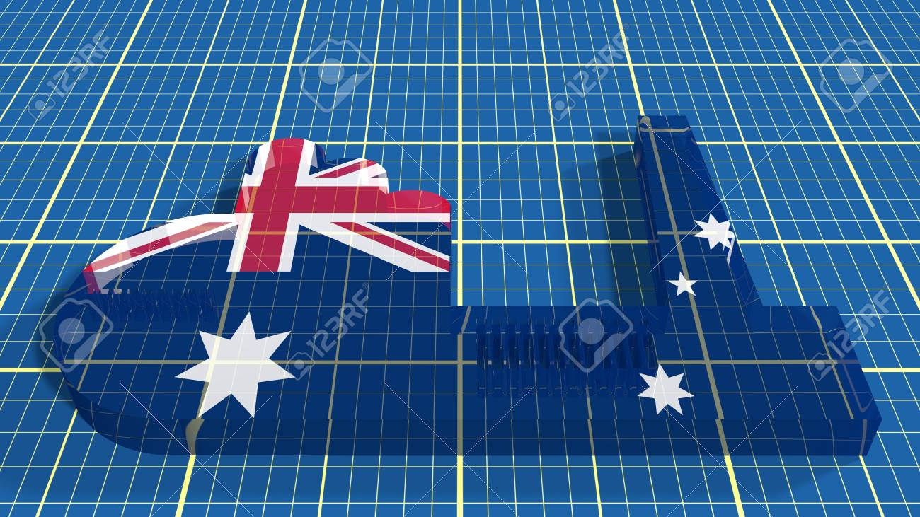 Australia industry relative concept factory transparent glass australia industry relative concept factory transparent glass icon textured by national flag on blueprint draft malvernweather Images
