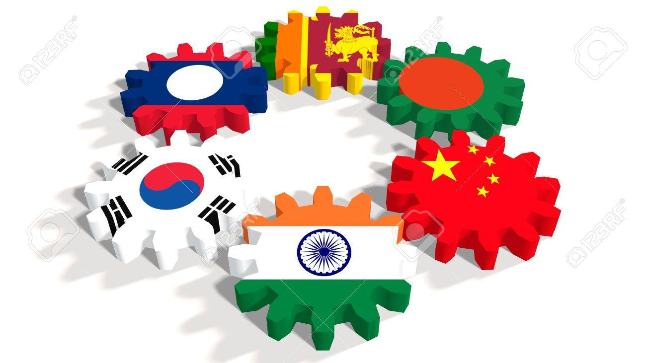 Asia pacific trade agreement politic and economic union members asia pacific trade agreement politic and economic union members flags on cog wheels platinumwayz