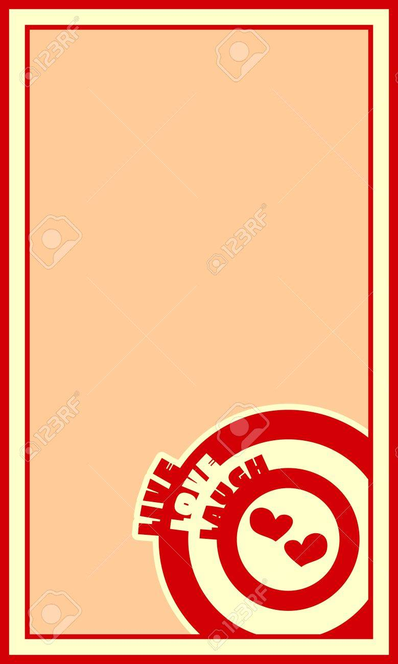 live laugh love greeting card template circles with words