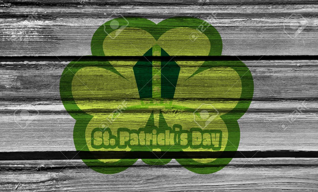 st patrick s day greeting card template shamrock and bishops