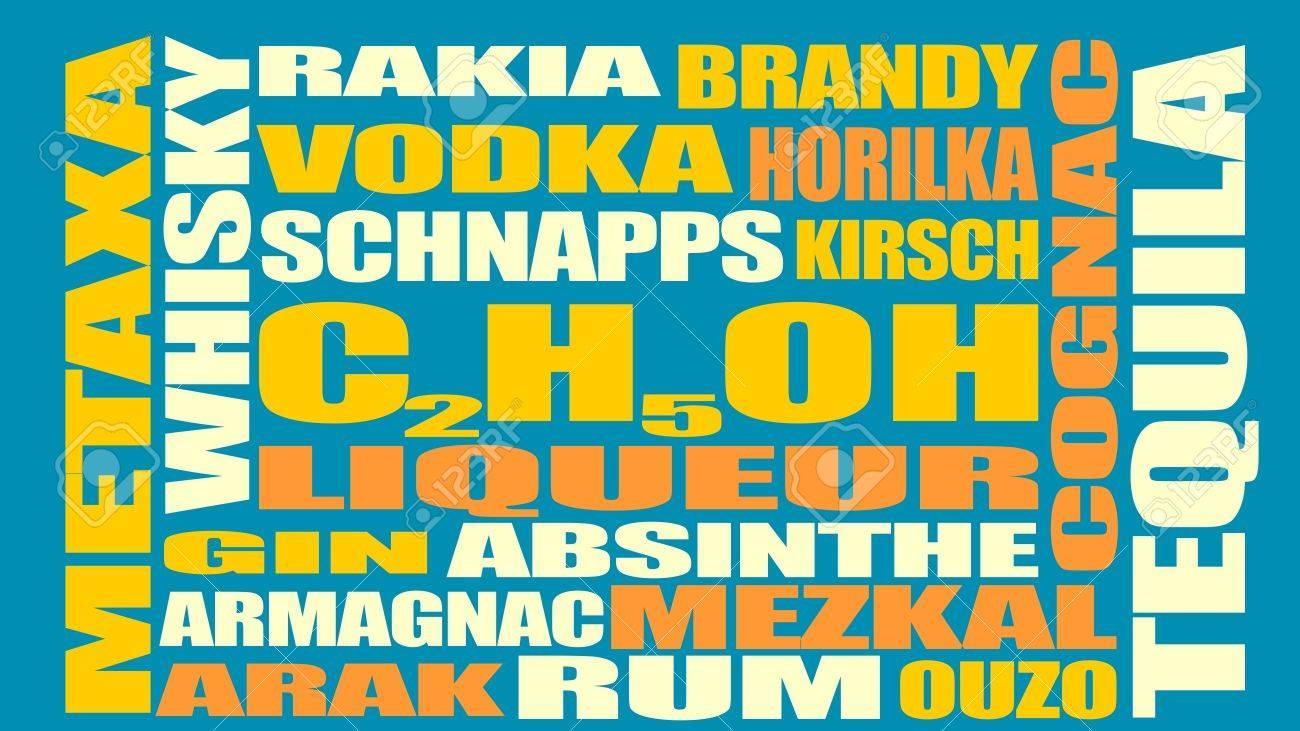 Verschiedene Getränke-Liste. Trinken Alkohol Getränk. Relative ...
