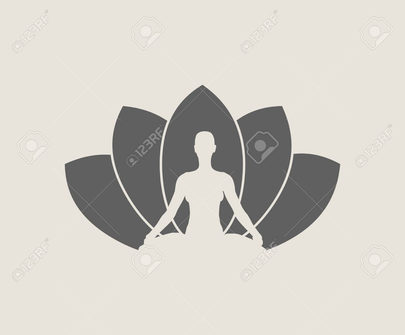 Woman Sit In Meditation Pose Bodybuilder Relaxing Cutout