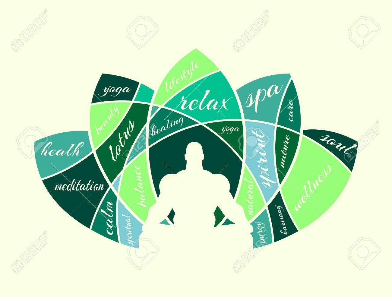 Muscular Man Sit In Meditation Pose Bodybuilder Relaxing Yoga