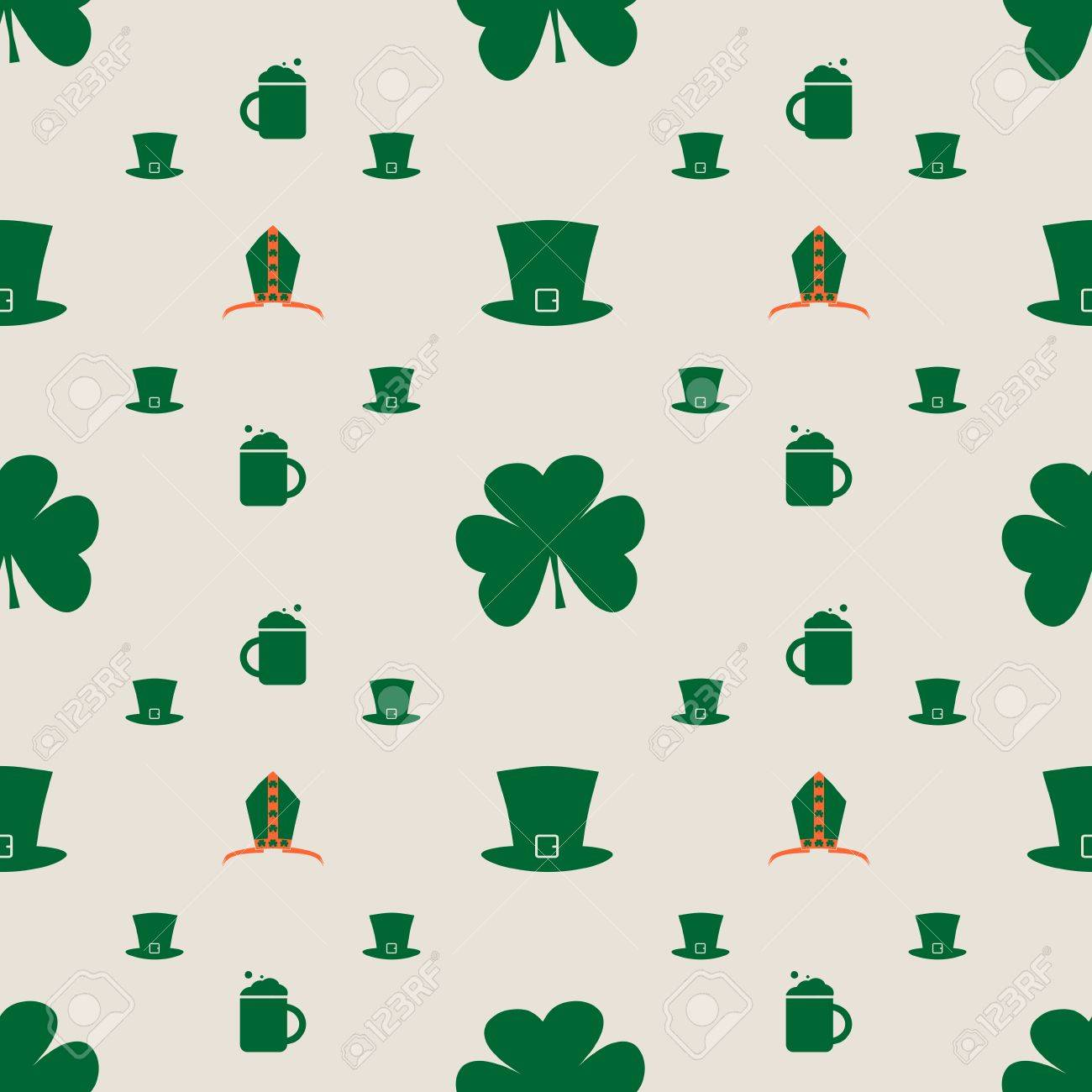 st patrick s day greeting card template bishop mitre with shamrock