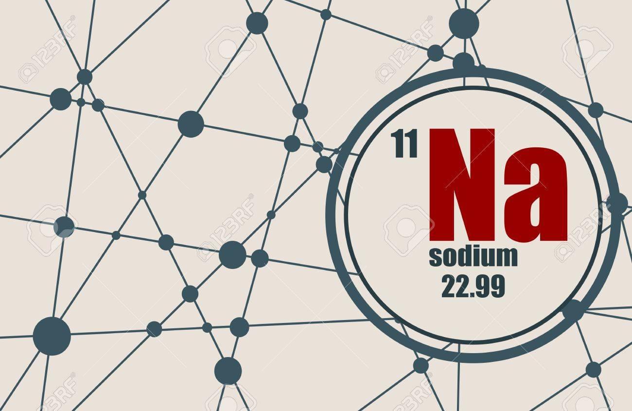 Sodium chemical element sign with atomic number and atomic weight sodium chemical element sign with atomic number and atomic weight chemical element of periodic urtaz Images