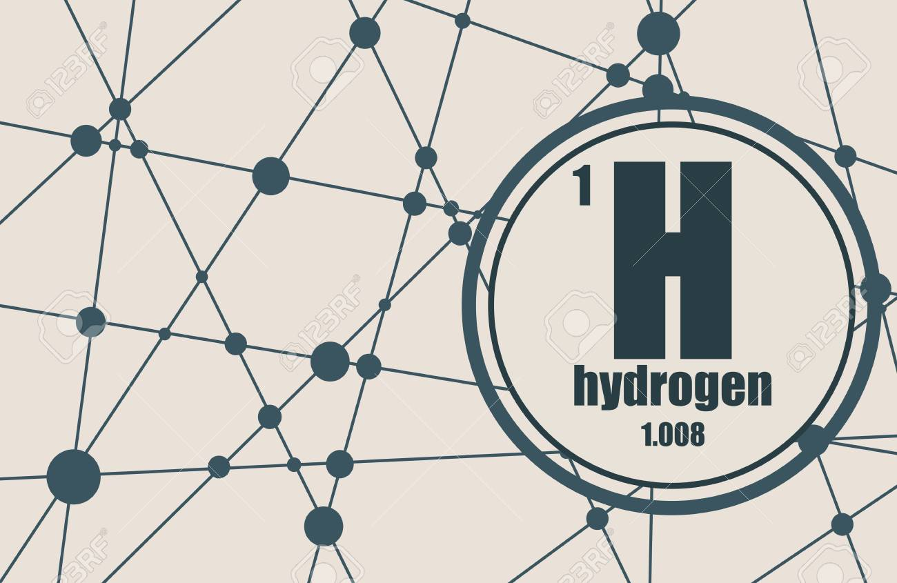 Hydrogen chemical element sign with atomic number and atomic hydrogen chemical element sign with atomic number and atomic weight chemical element of periodic urtaz Gallery