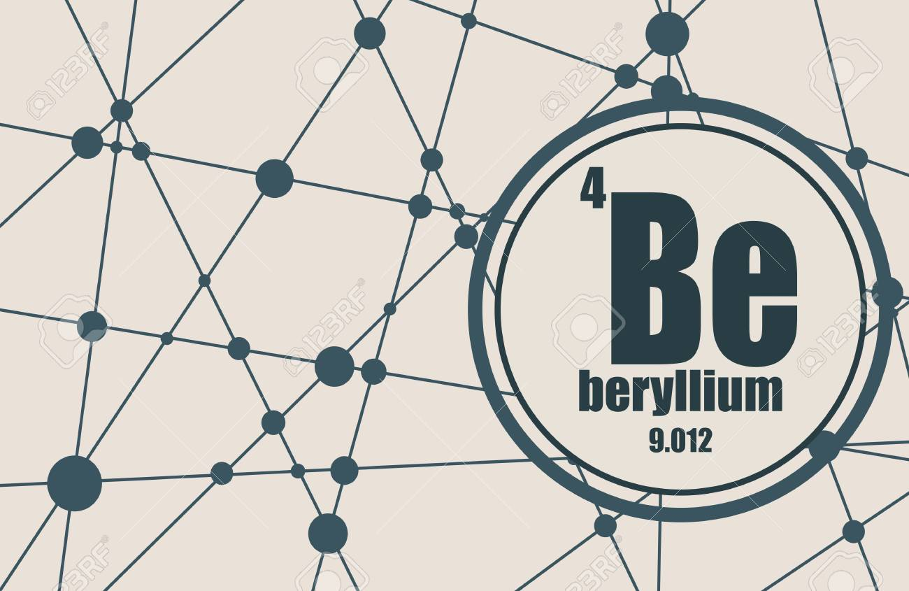 Beryllium chemical element sign with atomic number and atomic beryllium chemical element sign with atomic number and atomic weight chemical element of periodic buycottarizona Image collections