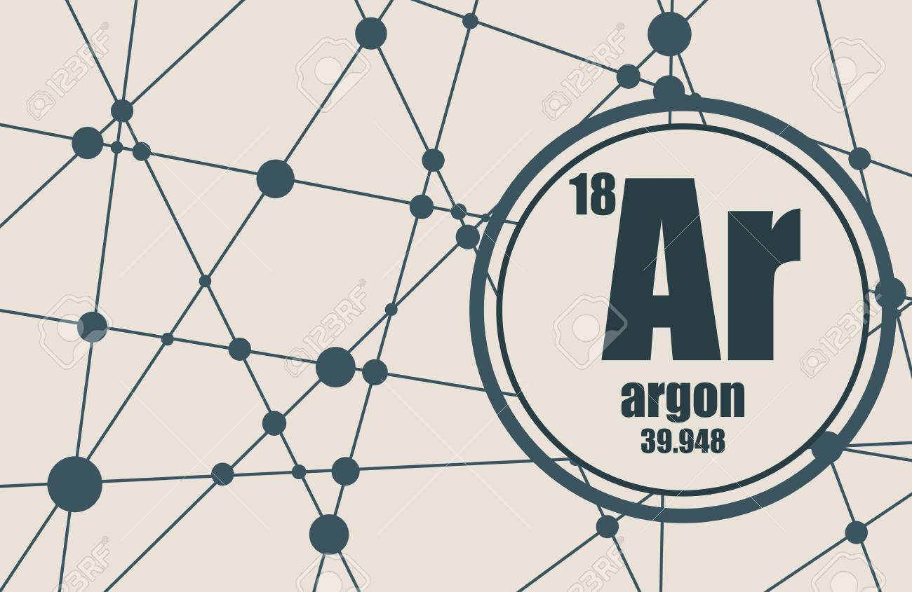 Argon chemical element sign with atomic number and atomic weight argon chemical element sign with atomic number and atomic weight chemical element of periodic urtaz Image collections