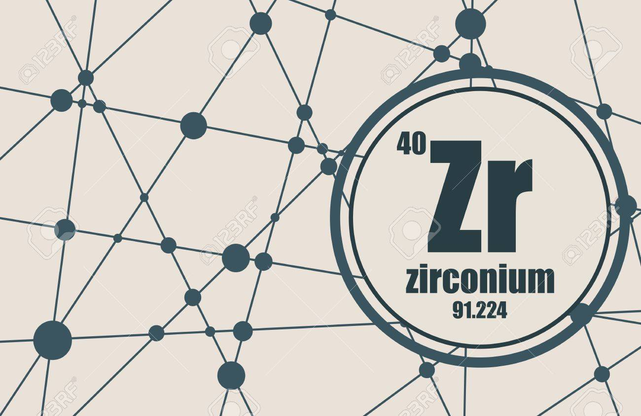 Zirconium chemical element sign with atomic number and atomic vector zirconium chemical element sign with atomic number and atomic weight chemical element of periodic table molecule and communication background urtaz Images