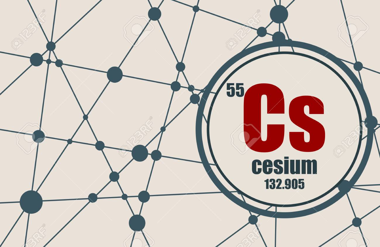 Cesium chemical element sign with atomic number and atomic weight cesium chemical element sign with atomic number and atomic weight chemical element of periodic urtaz Gallery
