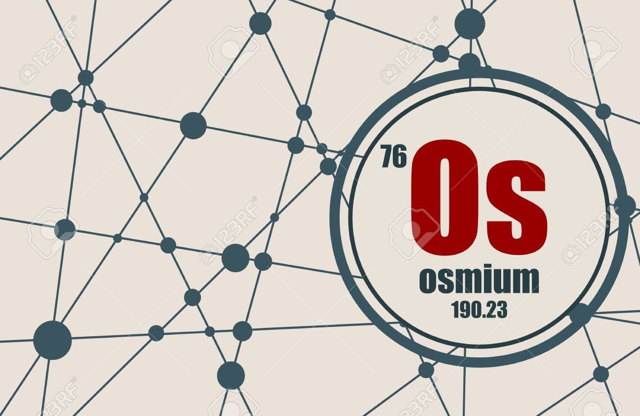 Osmium chemical element sign with atomic number and atomic weight sign with atomic number and atomic weight chemical element of periodic urtaz Image collections